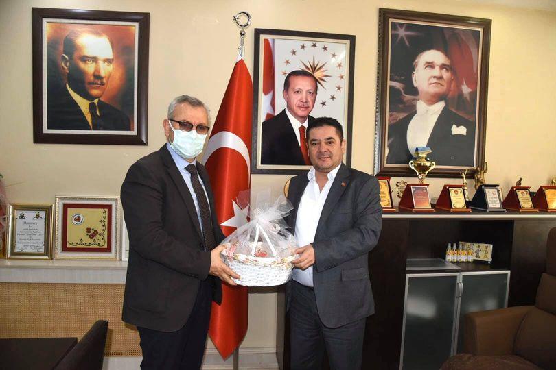 Helvacıoğlu'ndan Lalapaşa Belediye Başkanı Arslan'a ziyaret