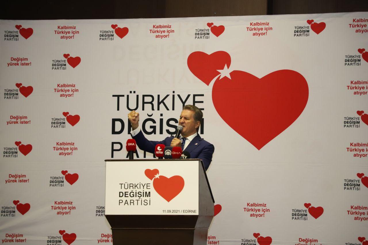 Türkiye'de bir ilk yaşandı…! Sarıgül Genel Başkan Adaylığını Edirne'den İlan Etti